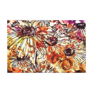 Wasserfarbe-Gänseblümchen Gespannte Galerie Drucke