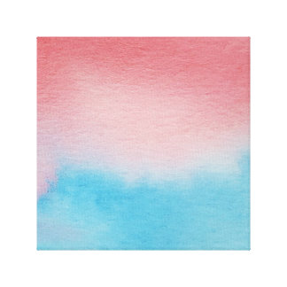 Wasserfarbe-Horizont-blaues Rot-eingewickelte Galerie Faltleinwand