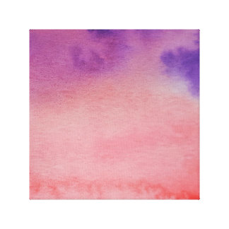 Wasserfarbe-Horizont-Rosa-lila eingewickelte Leinwand Drucke
