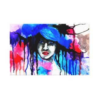 Wasserfarbe-Kunst-Leinwand Gespannter Galerie Druck