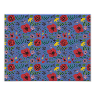 Wasserfarbe mit Blumen Poster
