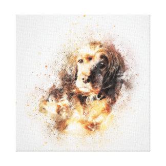 Wasserfarbespaniel-HundeLeinwand-Druck Galerie Falt Leinwand