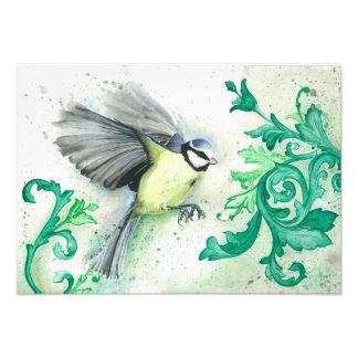 Wasserfarbevogelmalerei, Kunstdruck Fotodruck