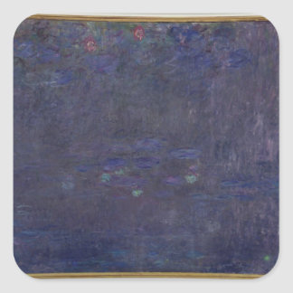 Wasserlilien Claudes Monet |: Reflexionen der Quadratischer Aufkleber