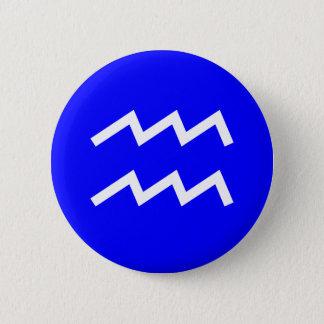 Wassermann-Symbol - besonders angefertigt Runder Button 5,7 Cm