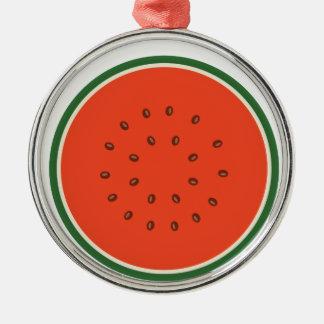 Wassermelone nach innen silbernes ornament