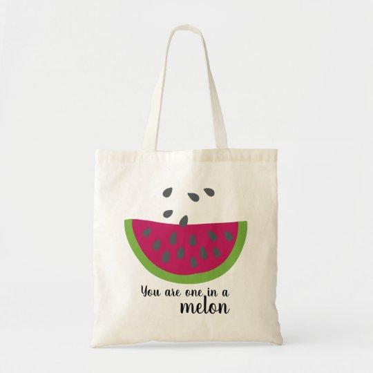 Wassermelone + Spruch - Einkaufstasche