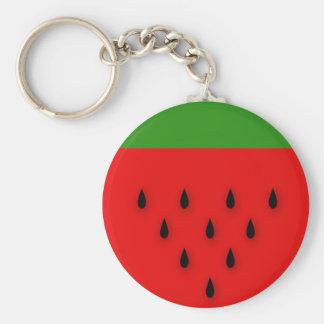 Wassermelone! Standard Runder Schlüsselanhänger