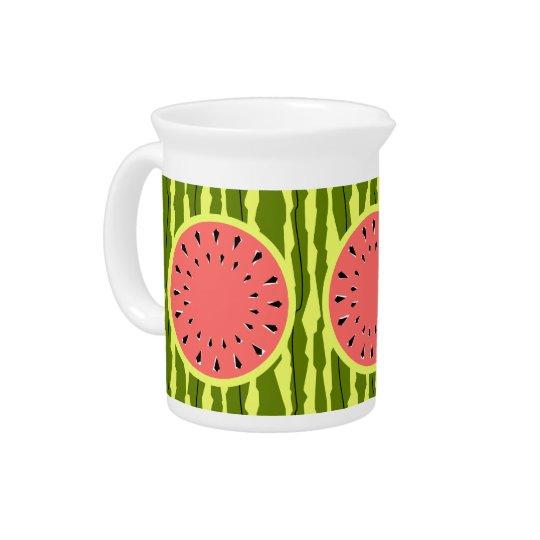 Wassermelone-Streifen-Rosakrug Getränke Pitcher