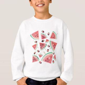 Wassermelonepopsicles, -erdbeeren und -schokolade sweatshirt