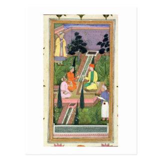Wässern Sie Gärten, vom Clive Album (Gouache auf Postkarte