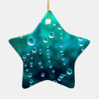 Wassertropfen im Spinnennetz, farblich verändert, Keramik Ornament
