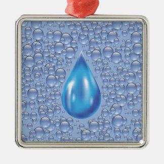 Wassertropfen Silbernes Ornament