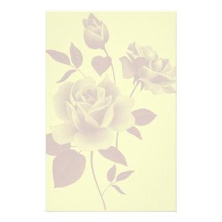Wasserzeichen-Rosen-Papierbriefpapier Individuelles Büropapier