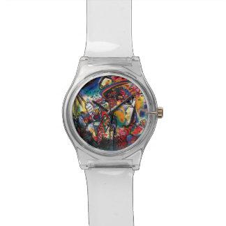 Wassily Kandinsky - Moskaucityscape-abstrakte Uhr