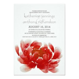 Watercolor-Blumenblüten-Verlobungs-Party 12,7 X 17,8 Cm Einladungskarte