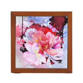Watercolor-Blumengarten. Abstrakte Illustration Stifthalter