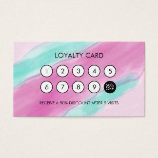 Watercolor-cooler eleganter Loyalitäts-Rabatt Visitenkarten