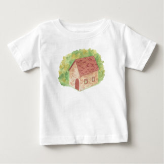 Watercolor-Cozy Hütte Baby T-shirt