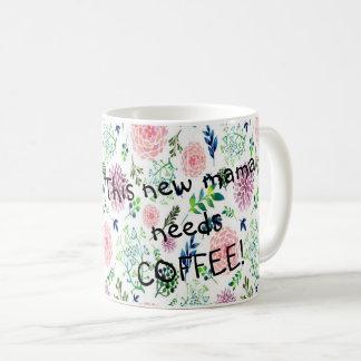 Watercolor-Garten-neue Mutter Coffee Mug Tasse