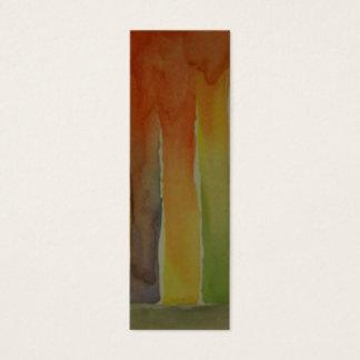 Watercolor-Kunst-Lesezeichen Mini Visitenkarte