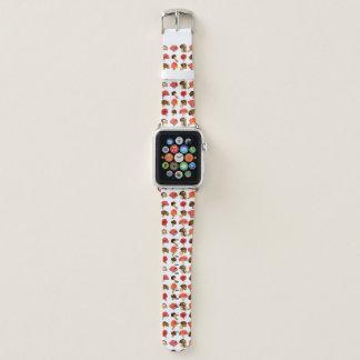 Watercolor vermehrt sich niedliches Fallmuster Apple Watch Armband