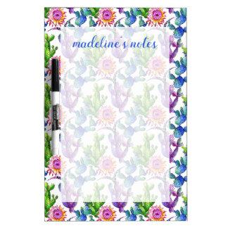 Watercolor-Wildblume-Kaktus-Muster Memoboard