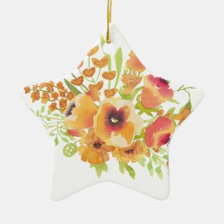 Watercolors-Blumen Keramik Ornament