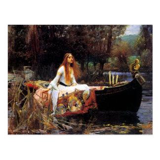 Waterhouse die Dame von Shalott Postkarte