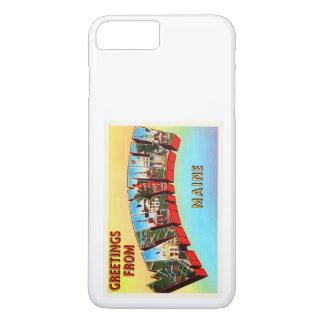 Waterville Maine ICH alte Vintage Reise-Andenken iPhone 8 Plus/7 Plus Hülle