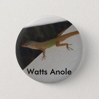 Watt Anole Reptil-Knopf- Runder Button 5,1 Cm