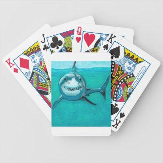 """""""Wayne"""" der Weiße Hai Bicycle Spielkarten"""