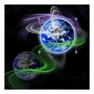 Wbckgd die Besteigung der Erde Poster