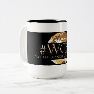 WCST Weltwechsler-Schwester Tribe® Schwarzes 15 Zweifarbige Tasse