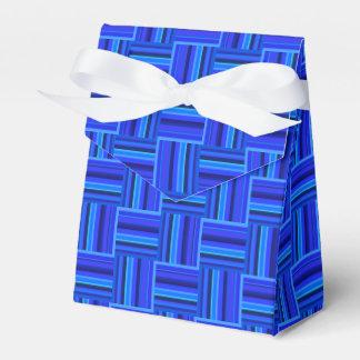 Webartmuster der blauen Streifen Geschenkschachtel
