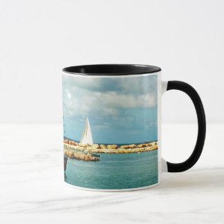 Wecker-Tasse mit Segeln-Boot Tasse