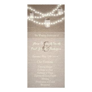 Weckglas beleuchtet Hochzeits-Programm Werbekarte