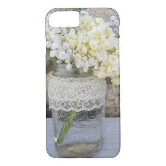 Weckglas-Blumenstrauß iPhone 8/7 Hülle