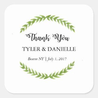 Wedding danken Ihnen Aufkleber