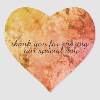Wedding danken Ihnen die Aufkleber, die durch Dal Herz-Aufkleber