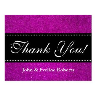 Wedding danken Ihnen rosa Glitter des Imitats der Postkarte