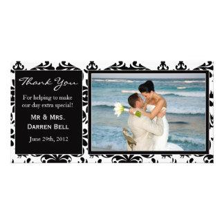 Wedding danken Ihnen zu kardieren Fotokartenvorlage