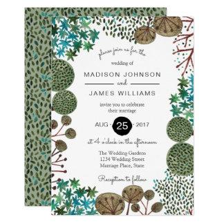 Wedding | Einladung des Baum-Waldwald|