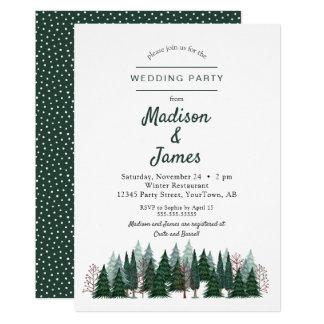 Wedding Einladung des Kiefern-Baum-des Wald|