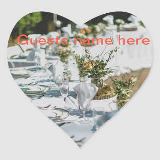 Wedding/Herzaufkleber Herz-Aufkleber
