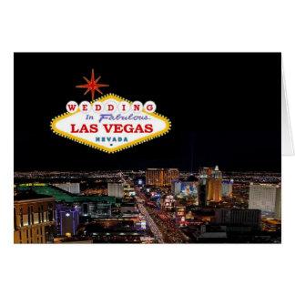 WEDDING in fabelhafter Las Vegas-Karte Grußkarte