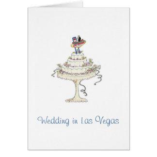Wedding in Las Vegasbraut u. -bräutigam, Grußkarte