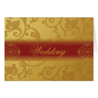 Wedding Invitation Card Folded  Indian style Karte