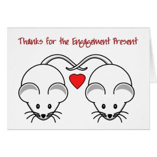 Wedding Mäuseweiß dankt Verlobung Mitteilungskarte