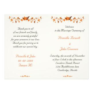 wedding nettes Programm, niedriger Preis, Flyer